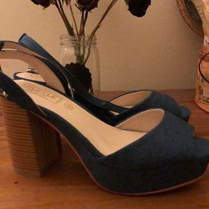 Shoes - Truffle collection blue platforms